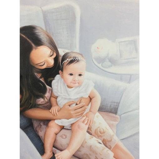 Baby oil painting