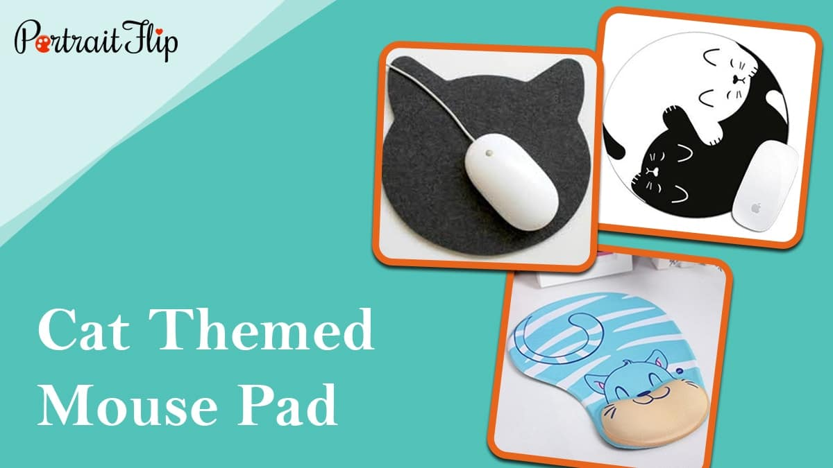Cat themed mouse pad