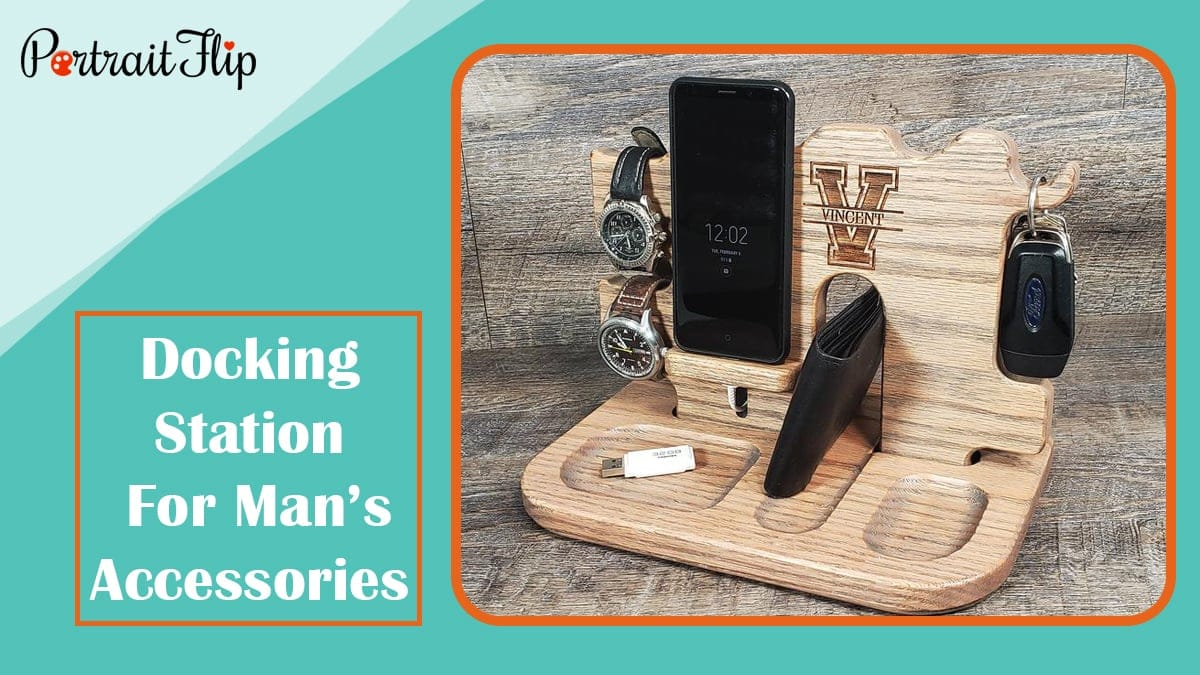 Docking station for man's accessories