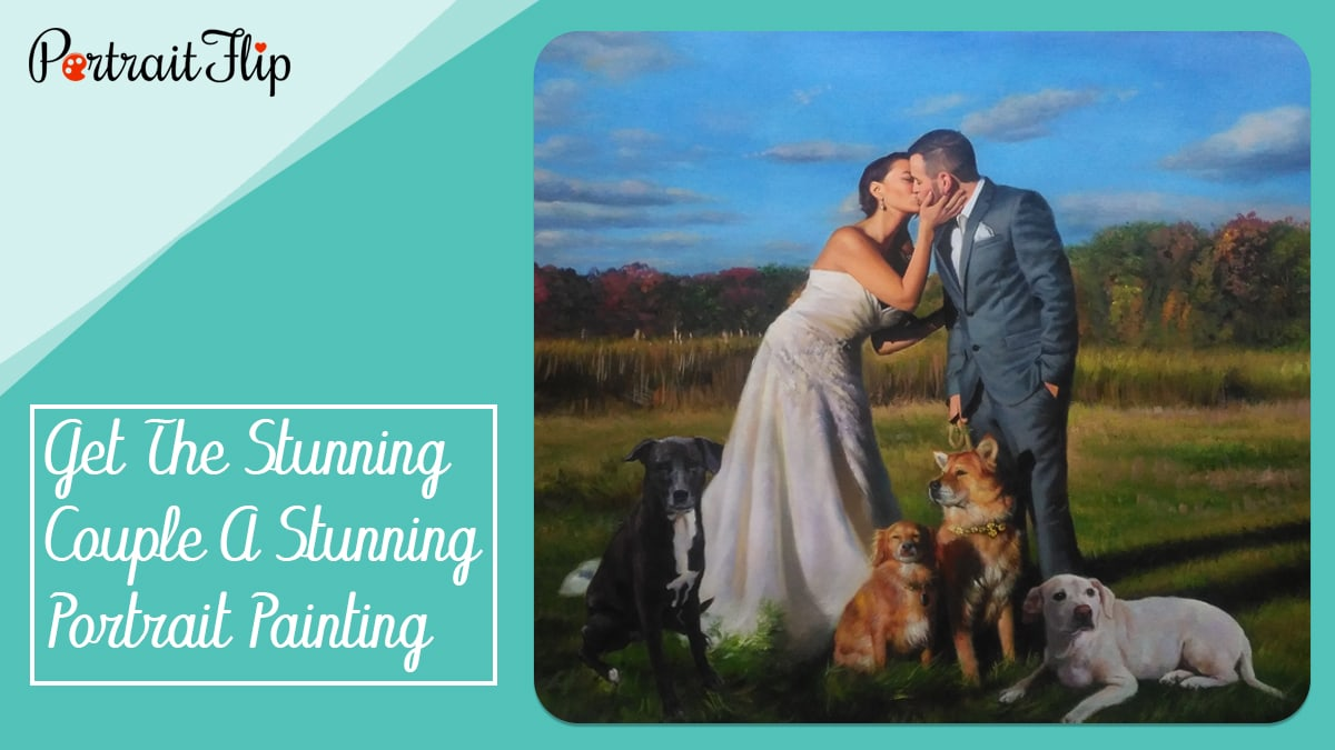 Get the stunning couple a stunning portrait painting