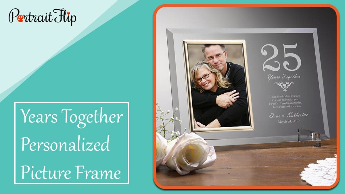 Years together personalized picture frame