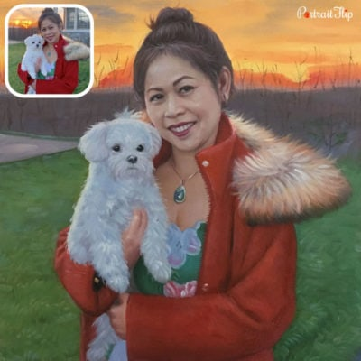 Pet oil portraits from photo