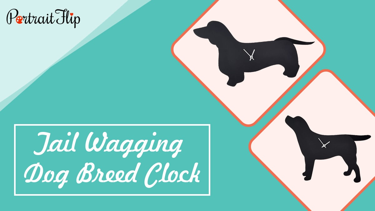 Tail wagging dog breed clock