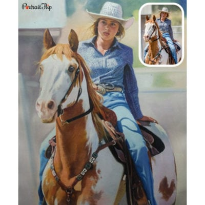 Horse oil painting from photo
