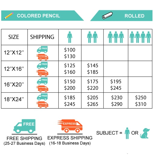 Colored pencil rolled prices