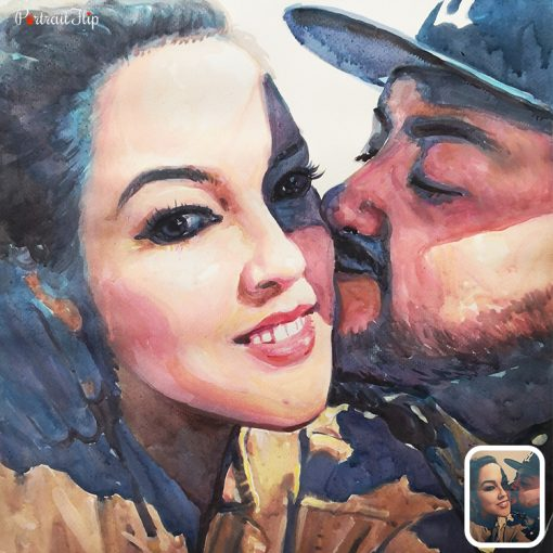 Watercolor Couple Painting