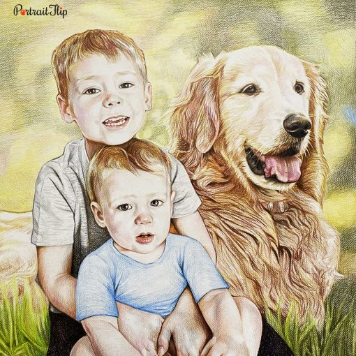 Baby Colored Pencil Portraits