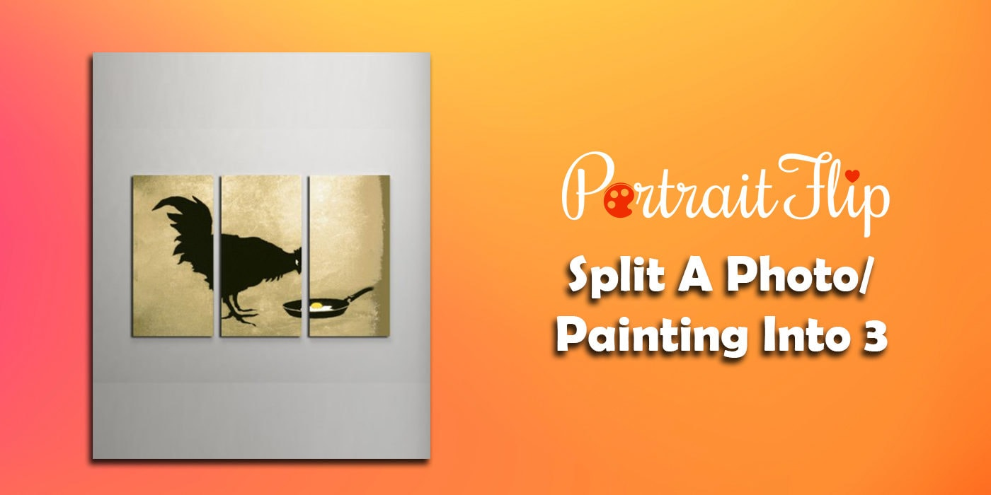 split a photo painting into 3