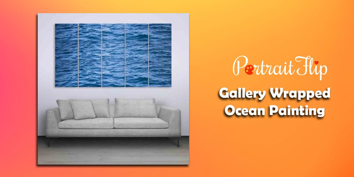 gallery wrapped ocean painting