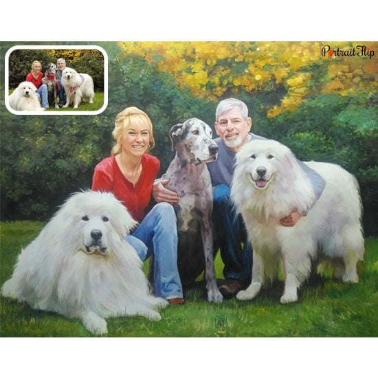 A portrait of their pet