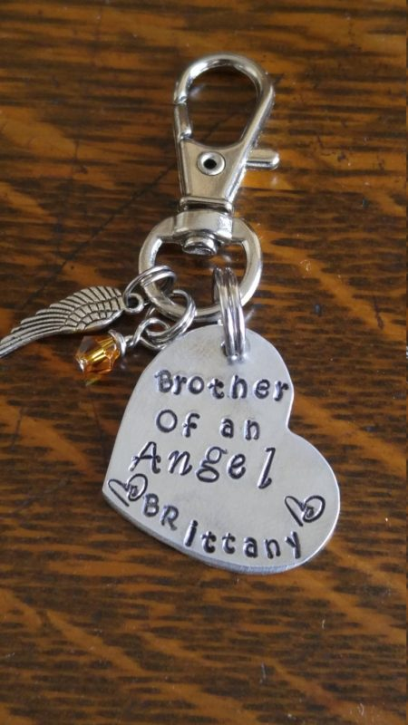 Brother of an angel keychain