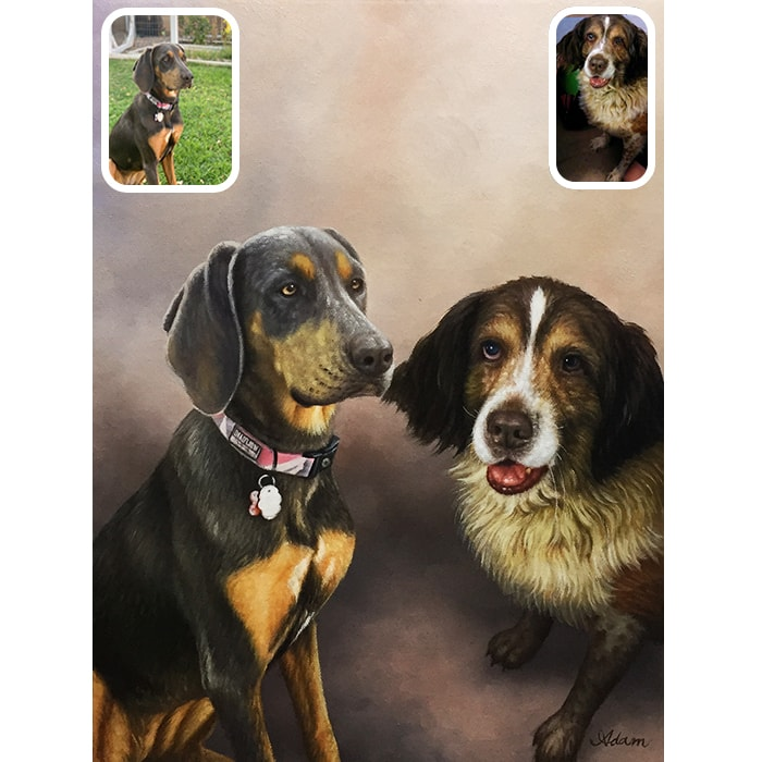 dog merge painting