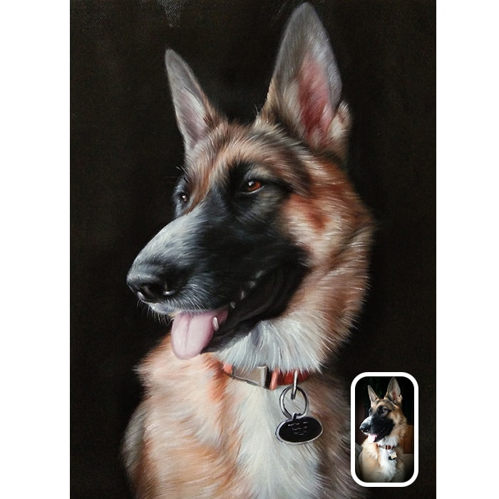 dog acrylic painting