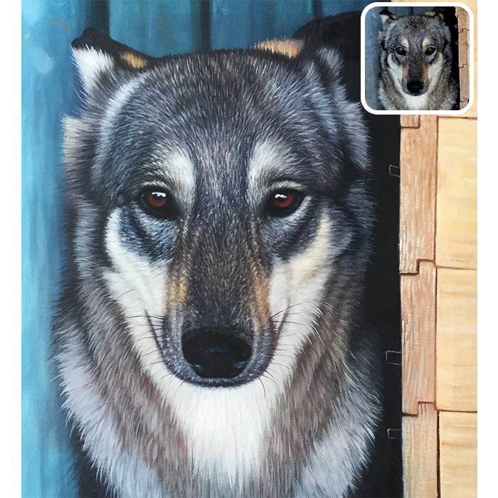 pet acrylic painting