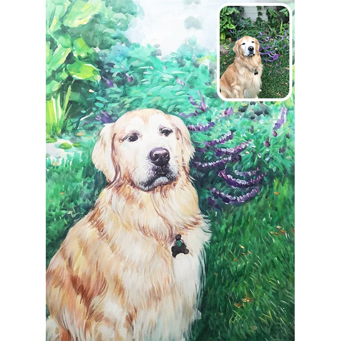 pet watercolor painting