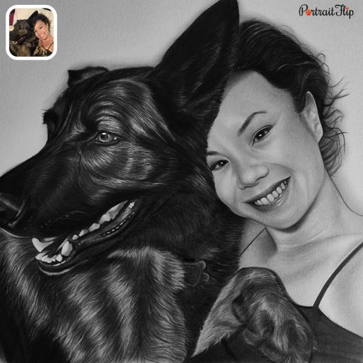 Handmade People & Pet Charcoal Drawing