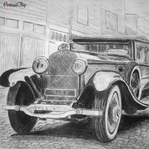 Vehicle Pencil Portraits