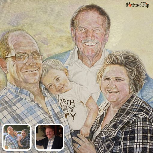 Handmade Compilation Colored Pencil Drawing
