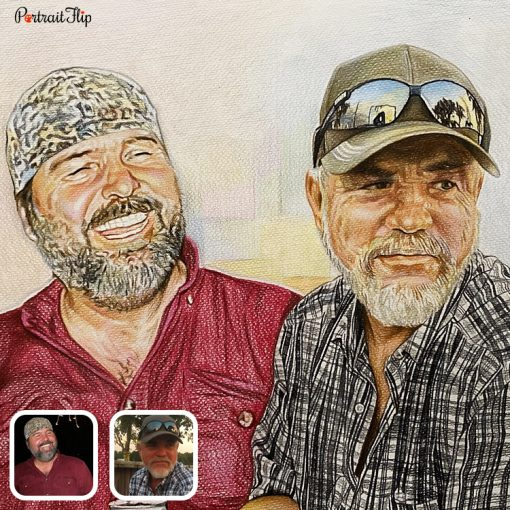 Handmade Family Colored Pencil Drawing