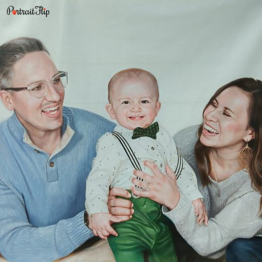 Parents & Children Oil Portraits