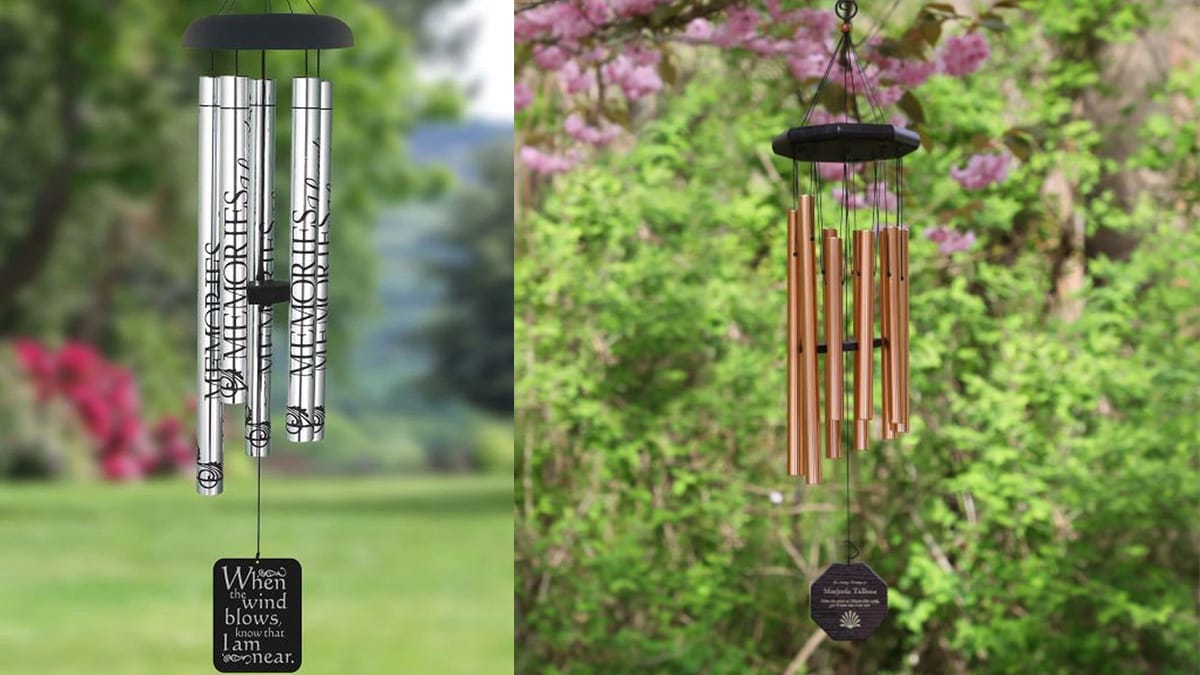 Personalized Memorial Wind Chimes PortraitFlip