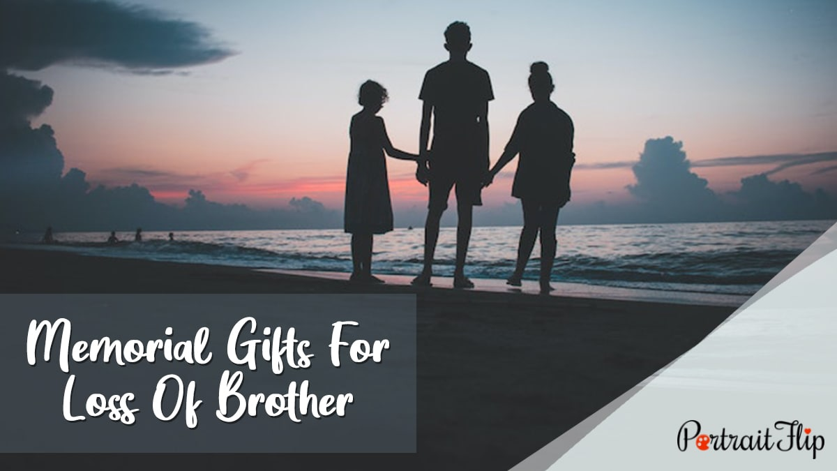 Memorial Gifts for Loss of Brother PortraitFlip