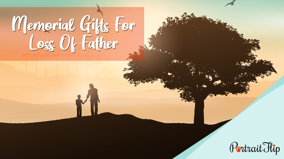 Memorial Gifts for Loss of Father PortraitFlip