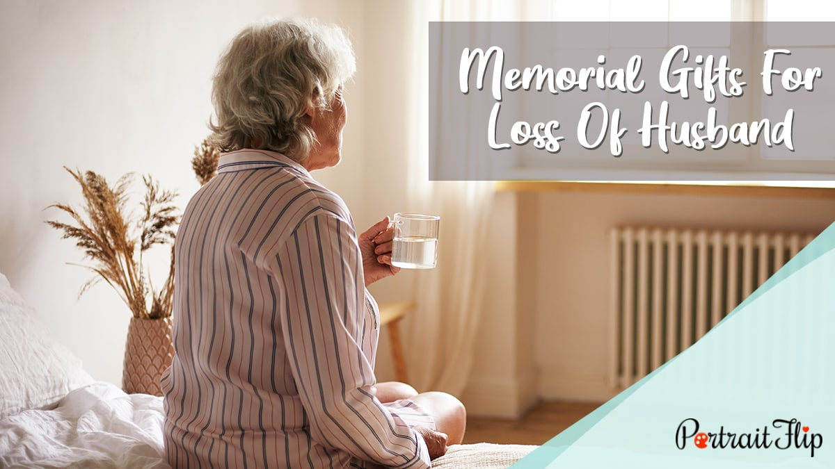Memorial Gifts for Loss of Husband PortraitFlip