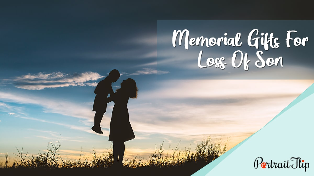 Memorial Gifts for Loss of Son PortraitFlip
