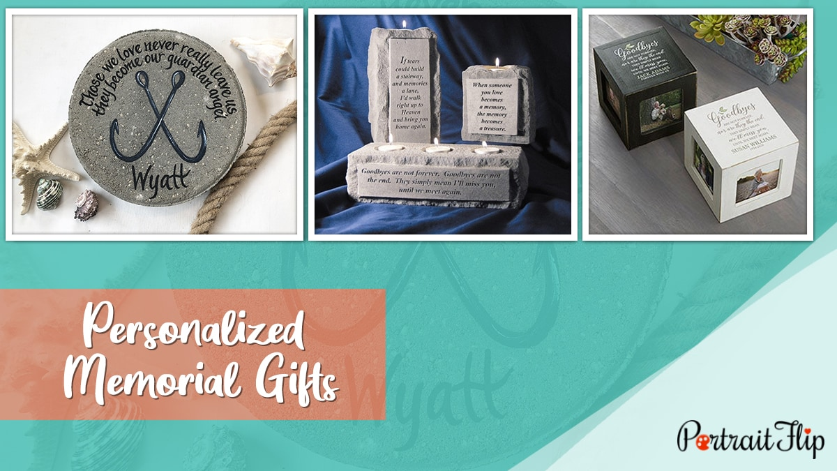 Personalized Memorial Gifts PortraitFlip