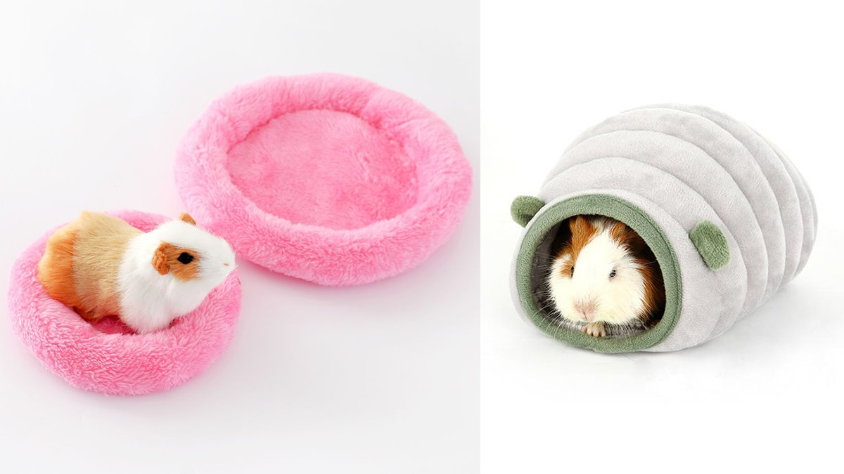 Small pink and green bed for hamster