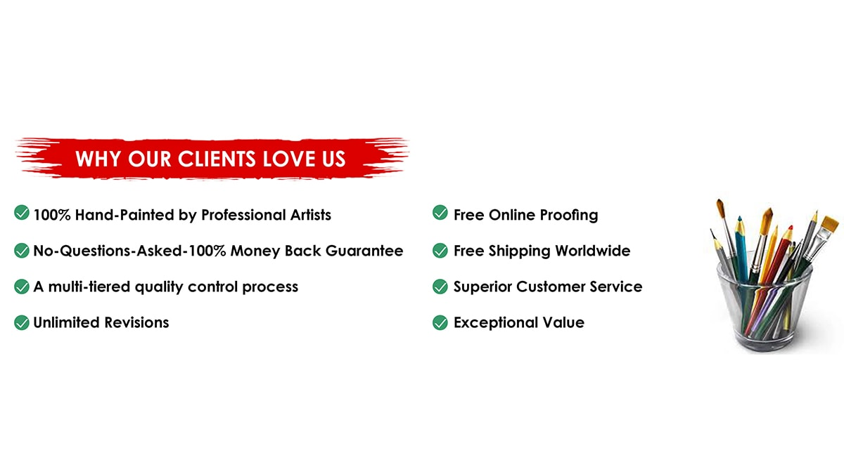 Why our clients love us on a white background