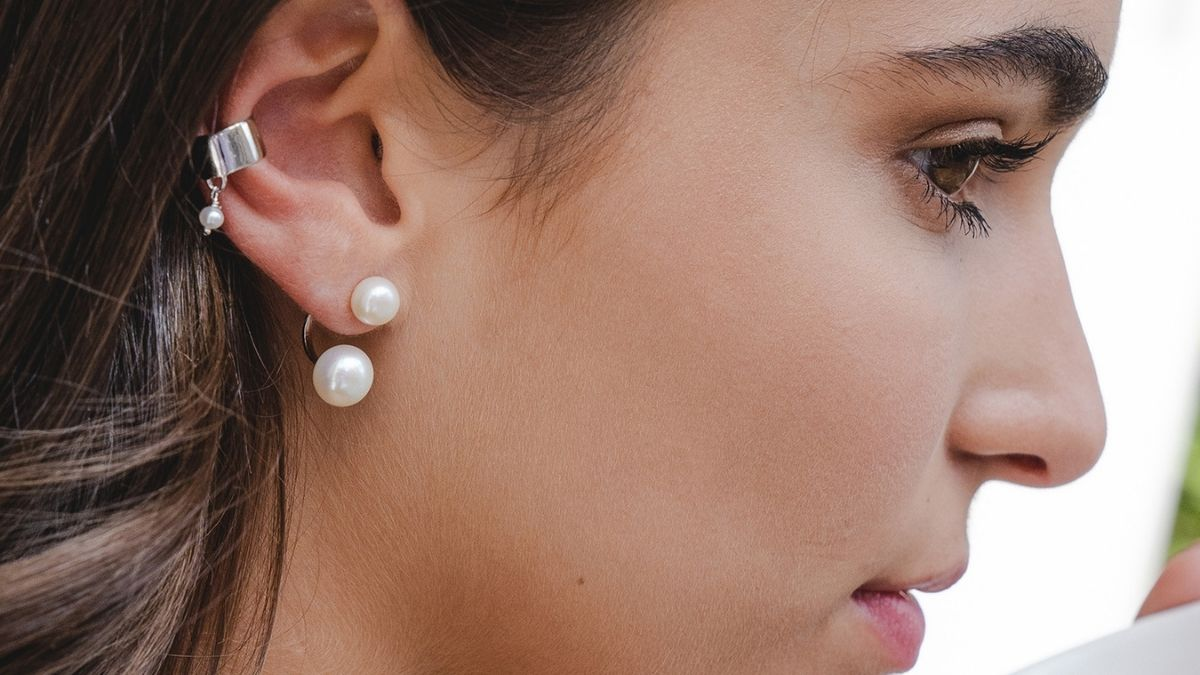 """Pearl"""" Earrings PortraitFlip Mother's Day Gifts"""