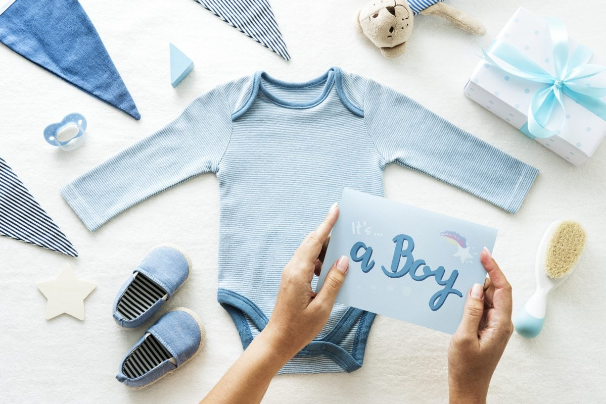 Baby Shower Gifts For Boy PortraitFlip