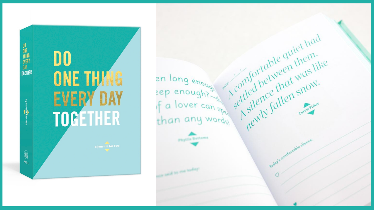 Do One Thing Everyday Together Book Personalized Wedding Gifts PortraitFlip