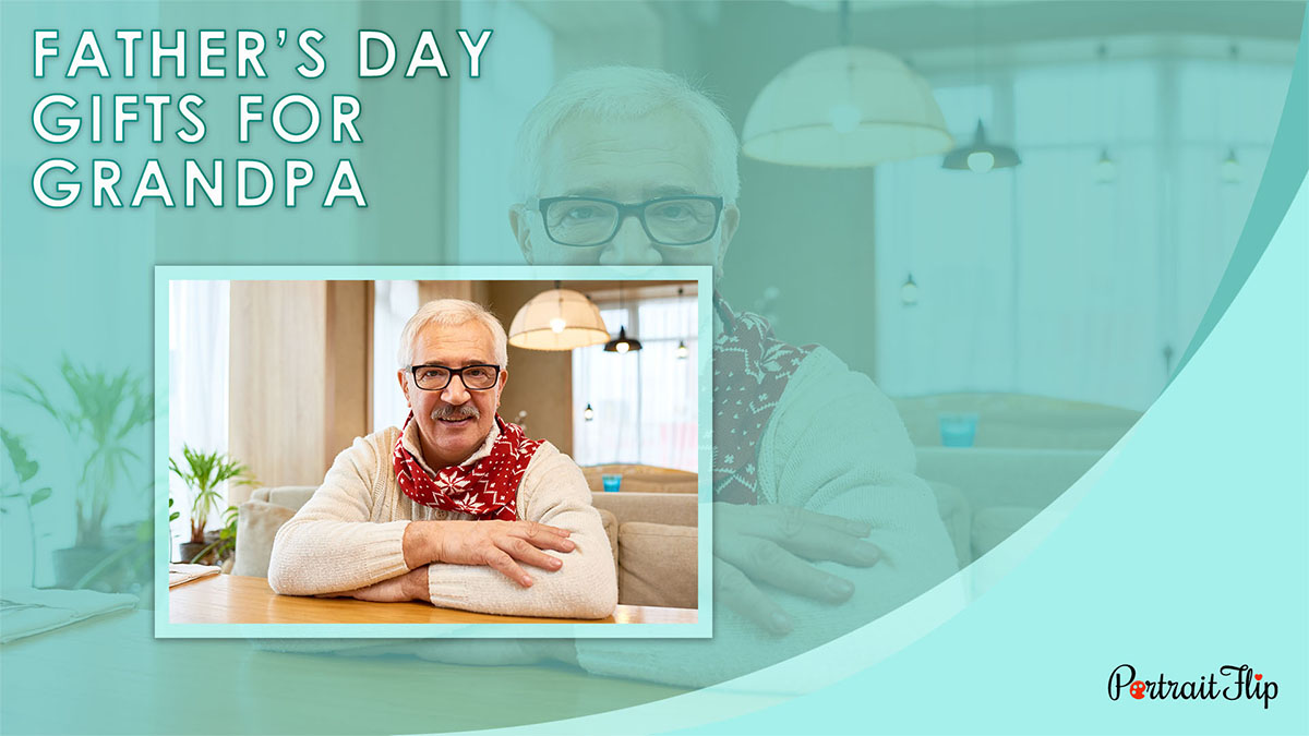 Father's Day Gifts For Grandpa PortraitFlip