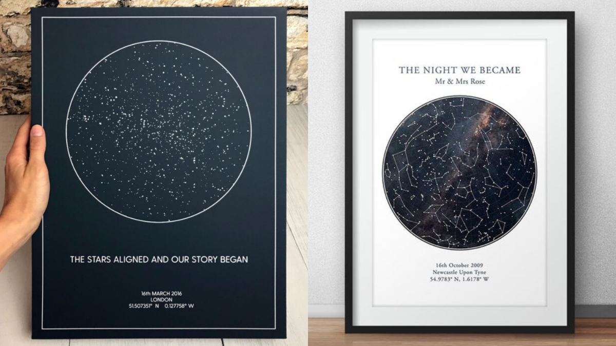 Star Map Print Personalized Wedding Gifts