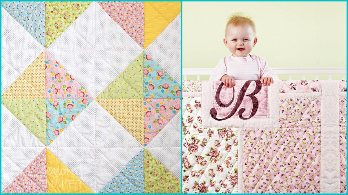 Crib Quilts Baby Shower Gifts PortraitFlip