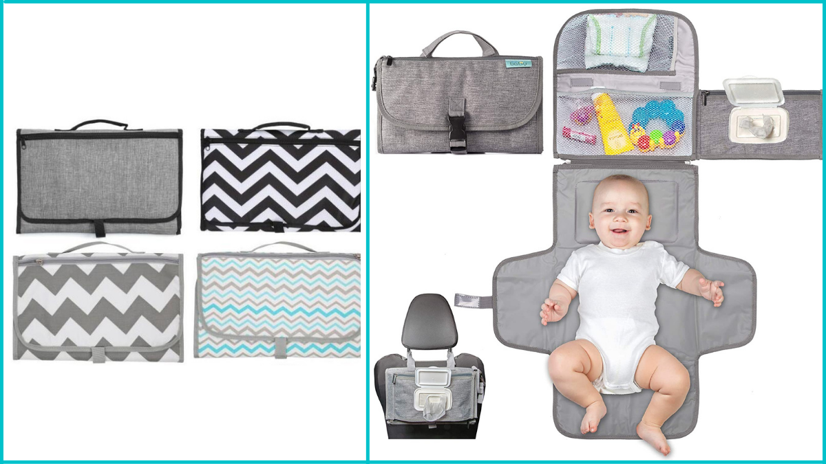 Portable Diaper Changing Bag Baby Shower Gifts PortraitFlip