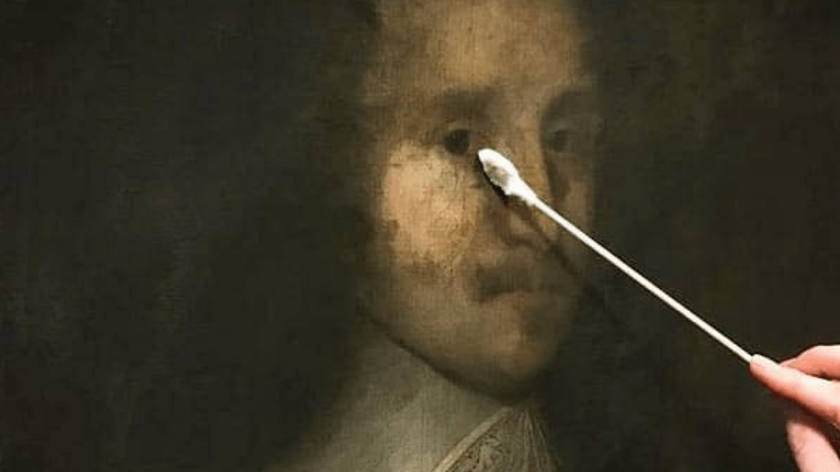 Cleaning With Saliva How to clean an oil painting