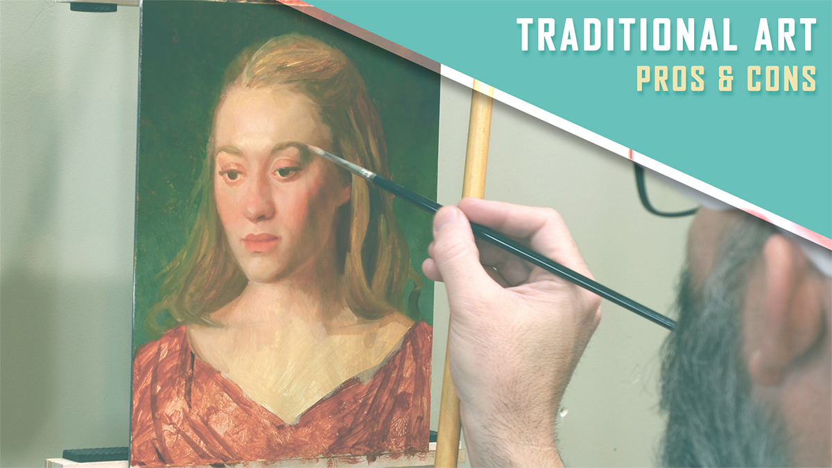 What are the pros and cons of traditional art