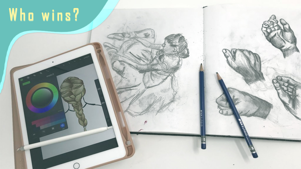 traditional art vs digital art? who wins? which is better?
