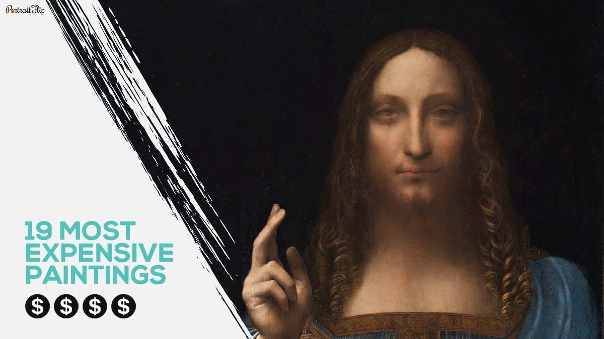 A image of salvator mundi,with the title of the blog - 19 most expensive paintings.