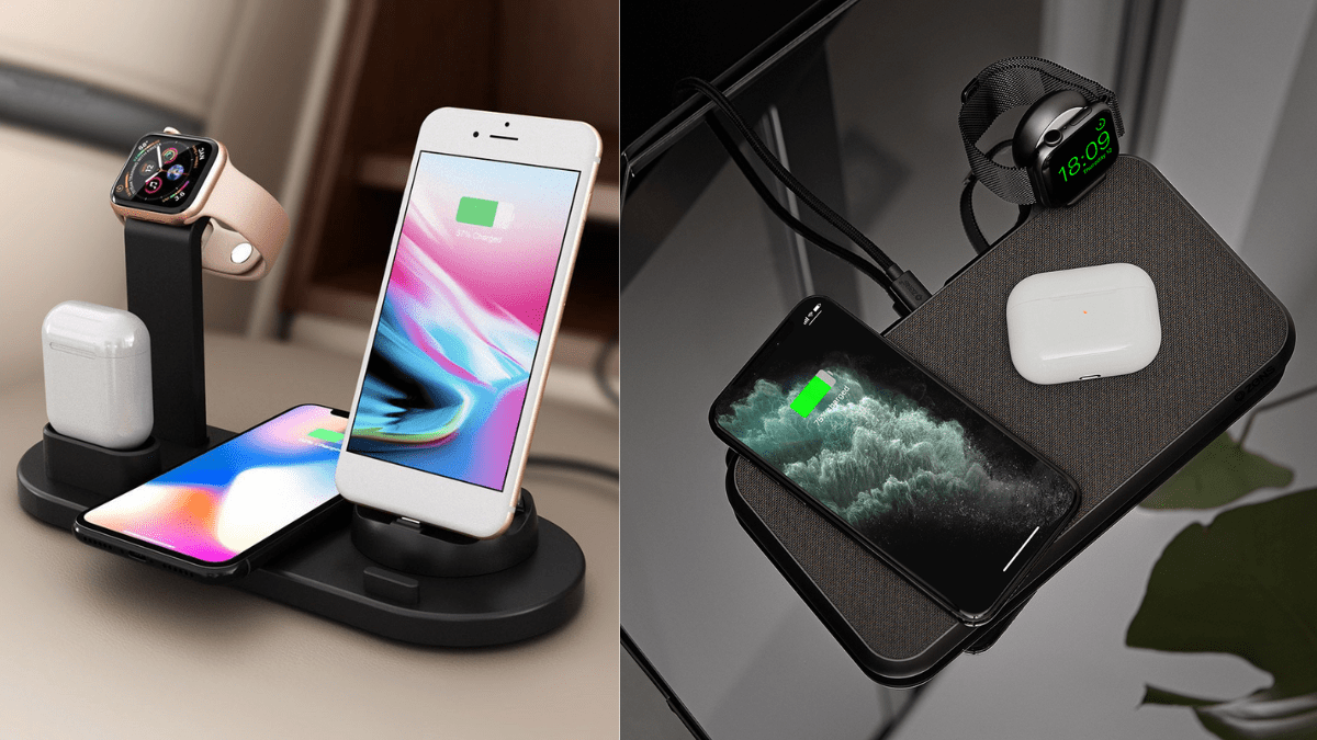 3-in-1 Charging Stand for phone.