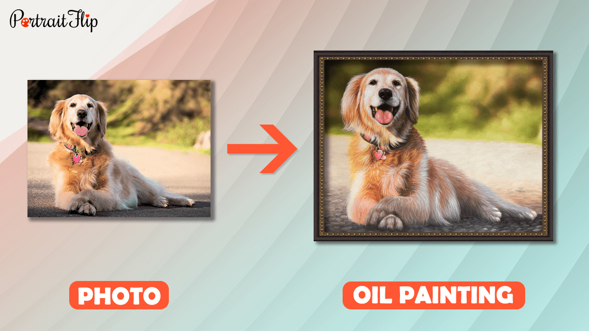A pet photo into painting.
