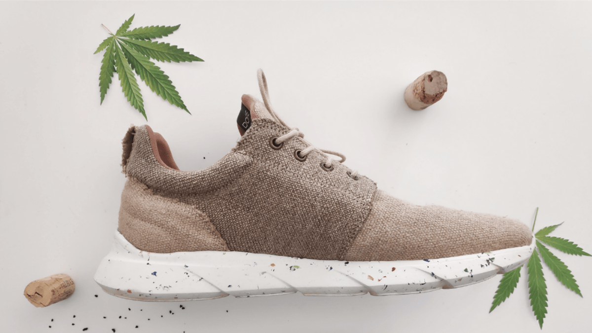 brown colored eco-friendly footwear made from hemp
