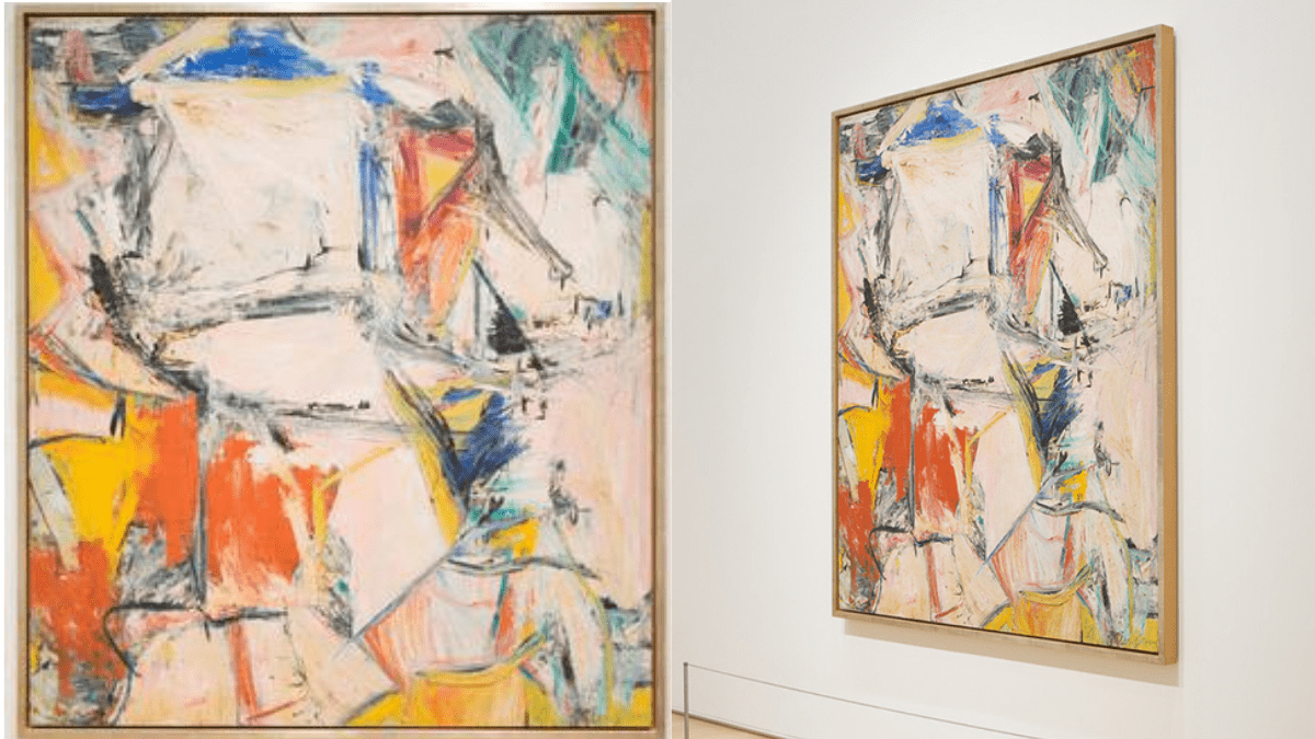 The painting Interchange by Willem Kooning is one of the most expensive paintings that is on displayed at a museum.