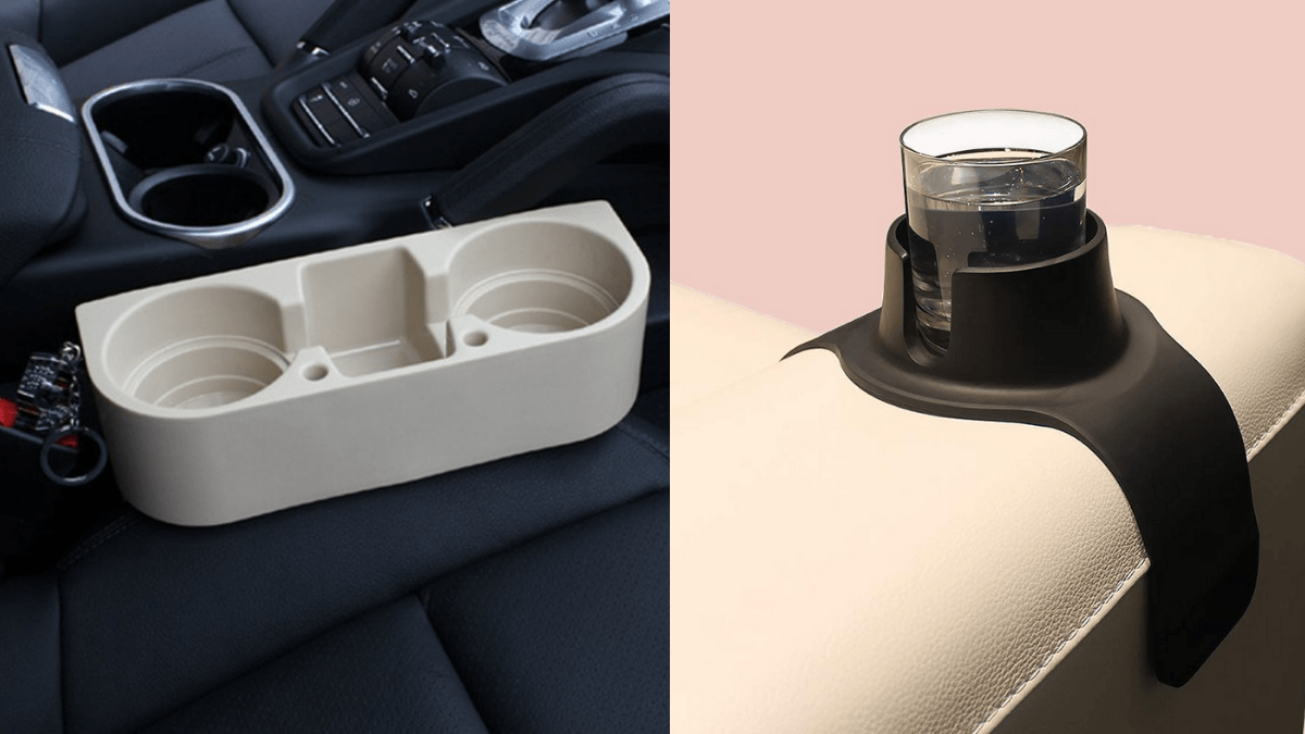 portable cup holder for care and couch.