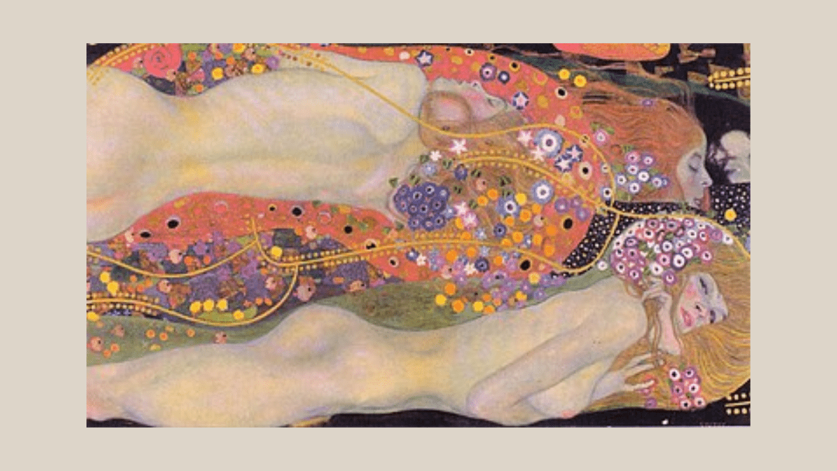 The painting Wasserschlangen II by Gustav Klimt - his most expensive paintings
