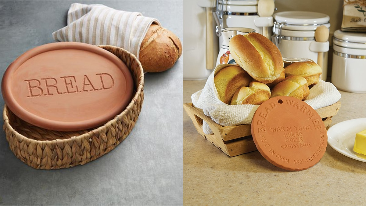 Beard warming set with loaf of breads